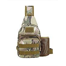Multifunction Tactical Shoulder Backpack Military Sport Bag Pack Daypack for Camping/Hiking/Trekking/Rover Sling/Chest Bag 1 Pcs