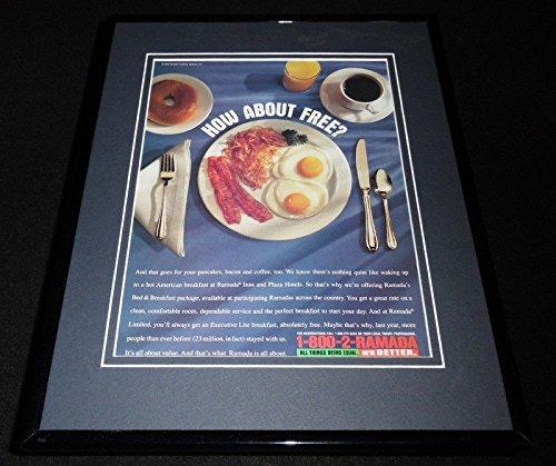 - 1996 Ramada Hotels/Breakfast Framed 11x14 ORIGINAL Advertisement