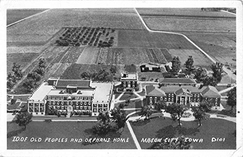 Mason City Iowa IOOF Old People Orphan Home Real Photo Vintage Postcard (Vintage Real Photo Postcard)
