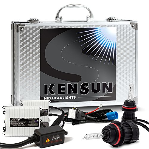 Kensun 55w HID Xenon Conversion Kit All Bulb Sizes and Colors with Digital Ballasts - 9007 (9004) (HB5) Bi-Xenon - 6000k