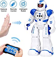 KingsDragon Robots for Kids,RC Robot Smart Programmable Gesture Sensing Toy,Interactive Walking Singing Dancin