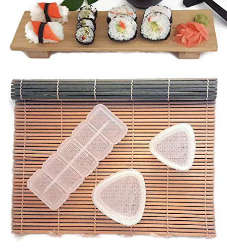 Amazon Com Sushi Making Kit Bamboo Rolling Mat Rice