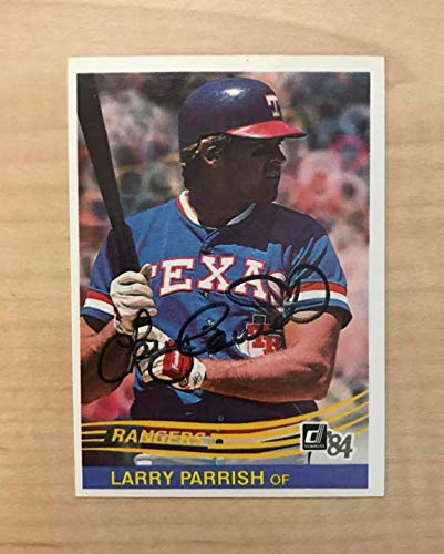 LARRY PARRISH TEXAS RANGERS SIGNED AUTOGRAPHED 1984 DONRUSS CARD #422 W/COA