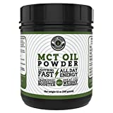 MCT Oil Powder from Coconuts, No Fillers. Blends Easily, 12 oz, Great as a coffee creamer, weight loss, pre-workout and rapidly achieving Ketosis
