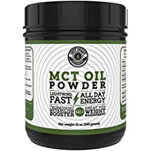 MCT Oil Powder from Coconuts, Creamy and Blends Easily, Great as a coffee creamer, weight loss and pre-workout. Left Coast Performance. 12 oz