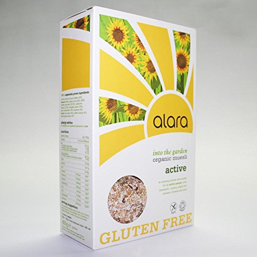 Alara Organic Gluten Free Active Muesli 400g (Pack of 3)