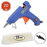 Hot Melt Glue Gun Kits with 25pcs Glue Sticks,20W Blue Professional High Temperature Glue Gun for DIY Craft and Quick Repairs in Home Office