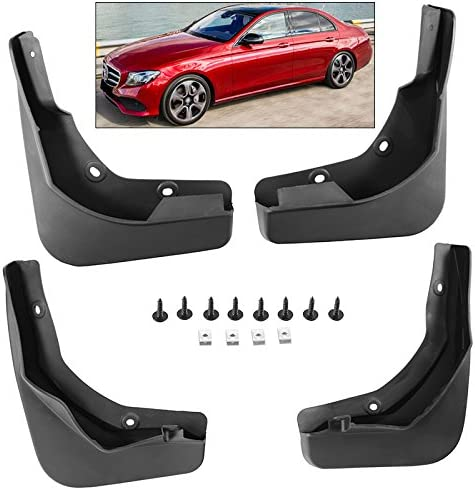 Set of 4 Front and Rear Mud Flaps Splash Guards for Mercedes-Benz W212 Series E Class Sport 2014-2016