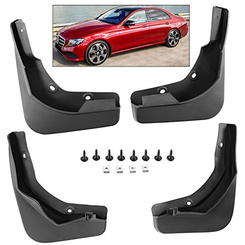 Splash Guards Full Set Front Rear 2017-2018 Mercedes Benz E Class Mud Flaps (Class Mud Flap)