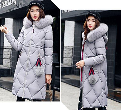 Longues Manteau Gris Facile À Emballage Wanyang Manches Femme Capuche Veste Épais Plus fWqHXT