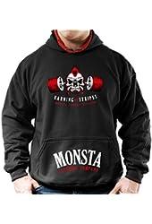 Monsta Clothing Co. Men's Embrace Pain (Earning my Stripes) (HOD190) Hoodies
