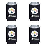 NFL Pittsburgh Steelers Can Koozie 4 pack