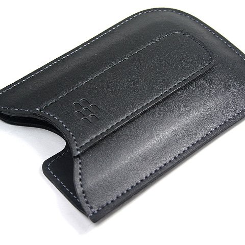 Original Rim BlackBerry Curve 8300, 8330, 8900, 8520, Bold 9700 Black Leather Pocket Case Pouch
