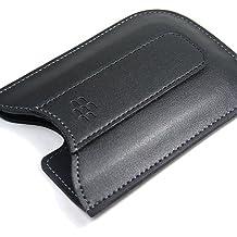 Original Rim BlackBerry Curve 8300, 8330, 8900, 8520, Bold 9700 Black Leather Pocket Case Pouch