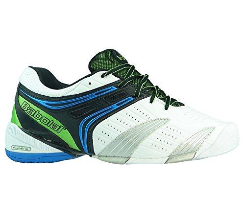Babolat , Chaussures spécial tennis pour homme Weiß-Schwarz-Blau-Grün Silber