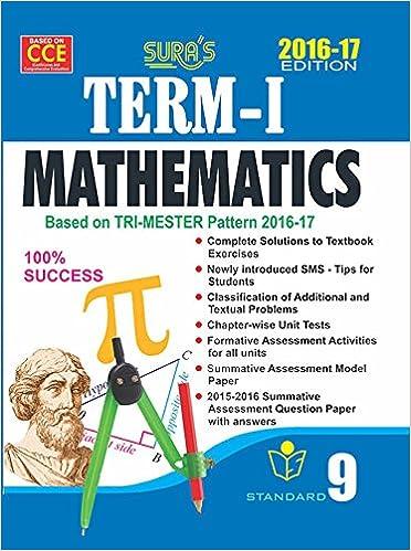 Amazon in: Buy 9th Std Mathematics TERM I Guide Tamilnadu State
