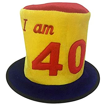 Birthday Hat Ages 40 40th Party Decoration  Amazon.co.uk  Clothing a21f49a2c71