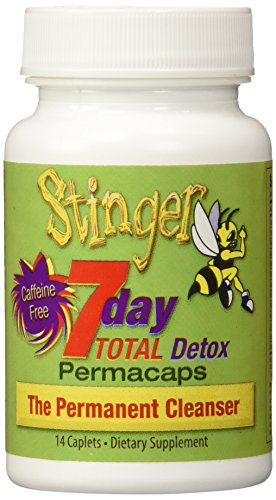 2 Bottles Stinger 7 Day Total Detox Perma Caps - 2/6 Panel Drug Tests included(mAMP/THC/OXY/COC/OPI/BZO)