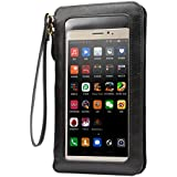Touch Screen Crossbody Shoulder Bag Purse Pouch Wallet Case for for iPhone 8 Plus / iPhone X / Samsung Galaxy Note 8 / S8 Active / Motorola Moto G5s Plus / E4 Plus / Z2 Play / Asus ZenFone 4 (Black)