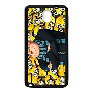 Happy Minions Case Cover For samsung galaxy Note3 Case