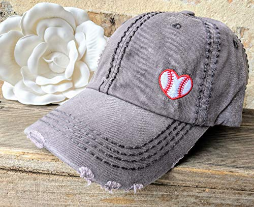 Loaded Lids, Customized, Women's Baseball Cap, Heart Baseball Cap, Baseball Heart Hat, Love Baseball Hat
