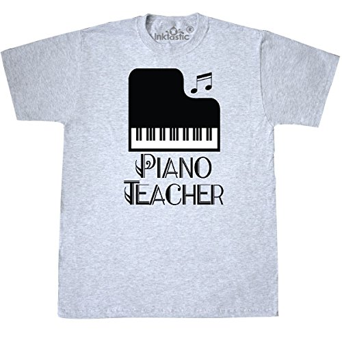 - inktastic - Gift for Piano Teacher T-Shirt Small Ash Grey 31035