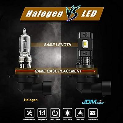 JDM ASTAR High Performance Bright White 1:1 Design H11 H8 H16 LED Fog Light Bulbs: Automotive