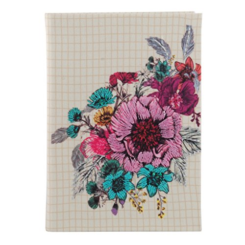 Classic Fabric Cover Notebook Journal Diary College Ruled Story Writing in Paper for Men Women & Girls with Bookmark Enclosed Perfect for Travel (8.5 in x 6 in) -