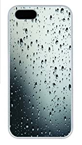 Drops in glass PC Case Cover for iPhone 5 and iPhone 6 4.7 White