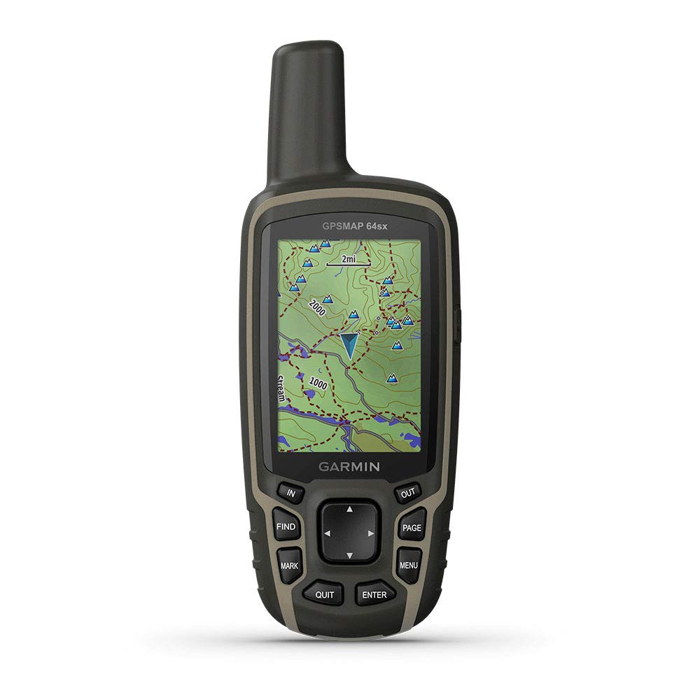 Garmin GPSMAP 64sx, Handheld GPS with Altimeter and Compass, Preloaded with TopoActive Maps by Garmin