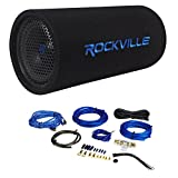 Rockville RTB80A 8'' 400 Watt Powered Subwoofer Bass Tube + MP3 Input + Amp Kit