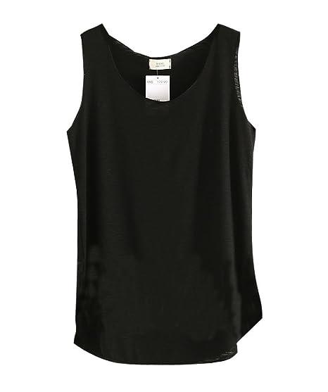 375831527a Amazon.com: Shawhuaa Womens Basic Loose Fit Sleeveless Tank Top T ...