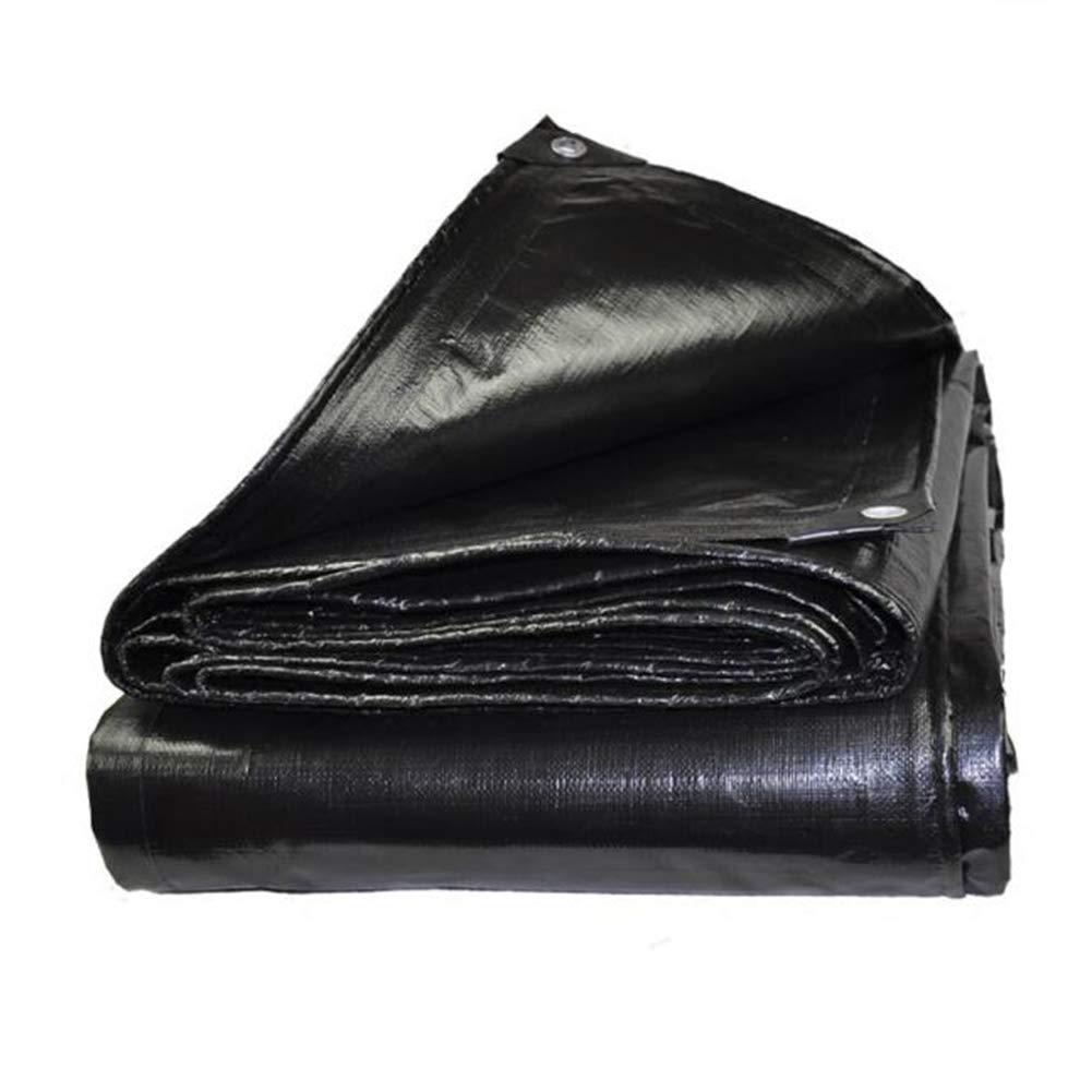 MuMa Telone Nero Addensare Impermeabile Impermeabile Ombra Plastica All'aperto (colore   Nero, Dimensioni   10  12M)