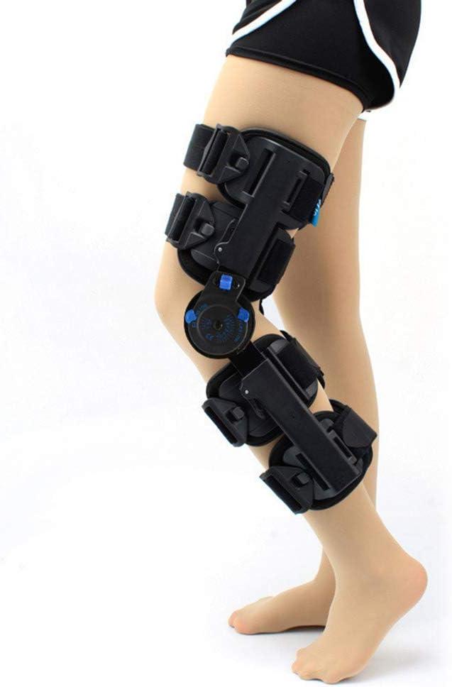 PHASFBJ Rodillera con Bisagras, Rótula Lesión Inmovilizadora Brazalete Protector Ortopédico Estabilizador de Pierna Ajustable Férula para órtesis de Rodilla Lesi&oac