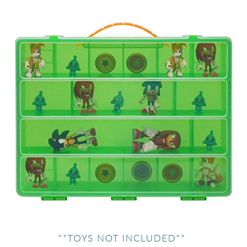 Life Made Better Sonic the Hedgehog Toy Storage Carrying box, Figures Playset Organizer. Accessories for Kids By LMB by Life Made Better