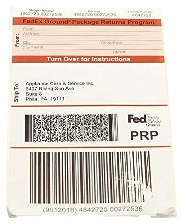 Amazon Delonghi Prp Phila Return Service Label Home Improvement