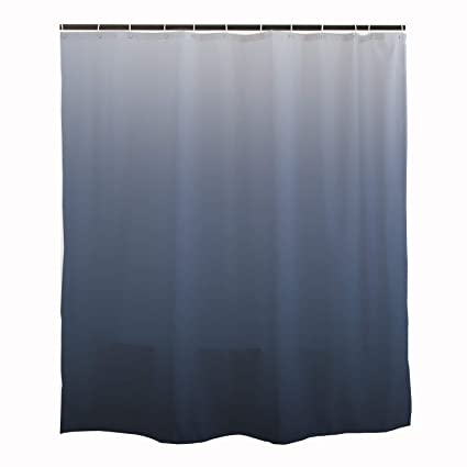 Orange Design Luxurious Ombre Navy Blue Shower Curtain For Bathroom Simple Modern Color Curtains Home