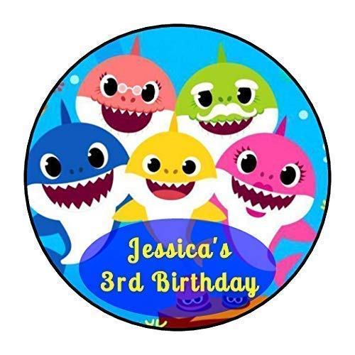 30 baby shark bubble labels birthday party decorations or favors Personalized