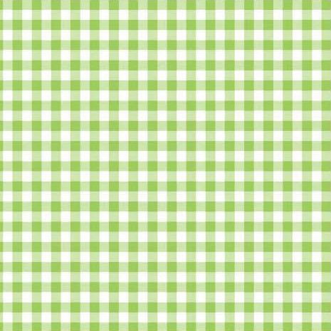 Disposable 3-Ply Party Napkins Paper, Lime Green Plaid (Pack of 50) ()