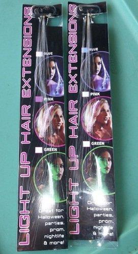 Flashing Panda LED Light-up Flashing Fiber Optic LED Hair Barrette, Multi-Color Rainbow, 2-Pack