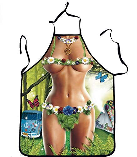 QEES Women Cute Costume Apron Leaf Clothes Great Gag/Wedding Shower Gift and Work Well as a Adjustable Grilling Apron WQ10-7]()