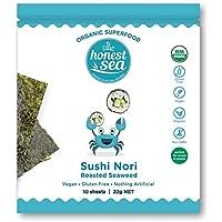 Honest Sea Seaweed - Sushi Nori Sheets, Pack of 10 (22g)