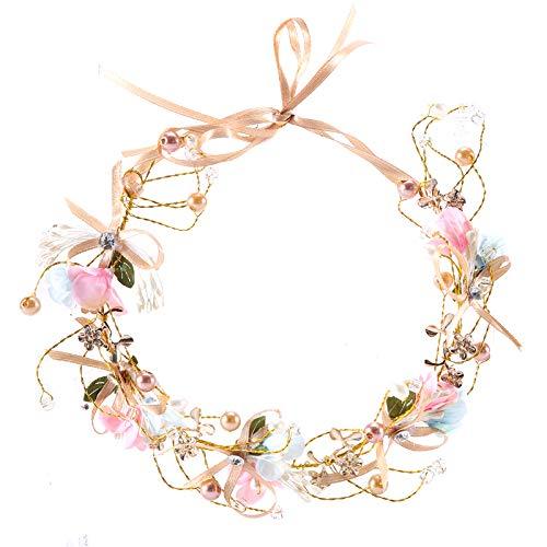 Dohuge Blumen Haarschmuck Kinder Kranz Blumenkrone Vintage Braut