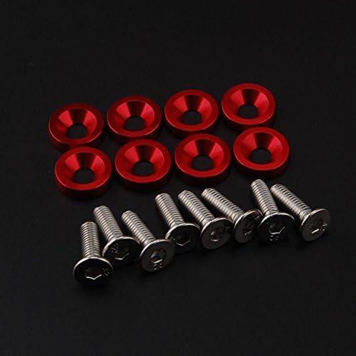 Deole 10 X Aluminium M6 X 20 Mm Billet Fender Unterlegscheiben Schrauben Motor Schrauben Kit Set Auto Styling Auto Zubehör Für Universal Auto Bmw Audi Sport Freizeit