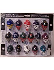 NHL Micro Goalie Mask Helmets Standings Tracker Set 31 piece with Display Board - with Vegas Knights