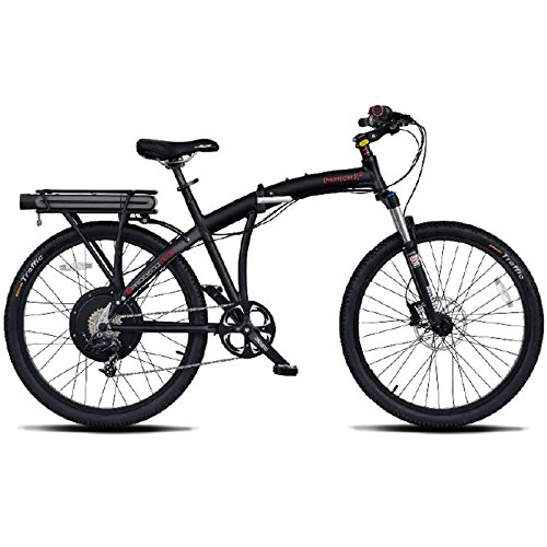 "ProdecoTech Phantom X2 V6 Folding Electric Bicycle, 26"", Black"