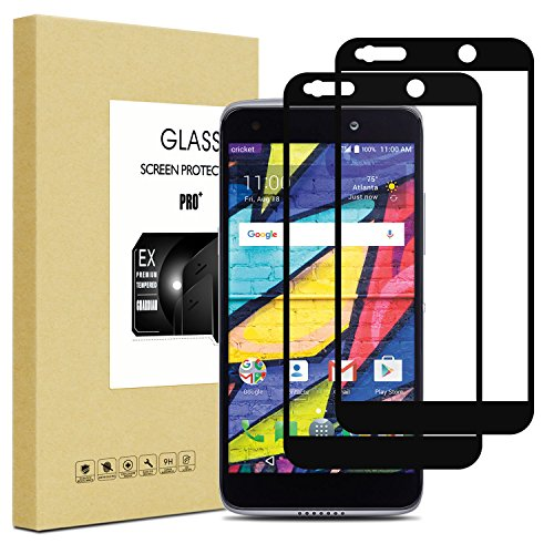 FilmHoo [2-Pack] for Alcatel Idol 5 (Cricket Version)/Alcatel Idol 5S(AT&T/Sprint/T-Mobile/Verizon) [Full Coverage] Tempered Glass Screen Protector with Lifetime Replacement Warranty(Black)