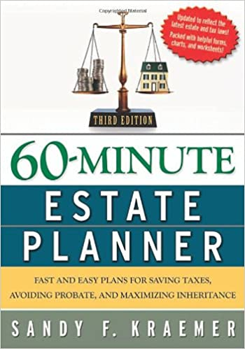 60 minute estate planner fast and easy plans for saving taxes