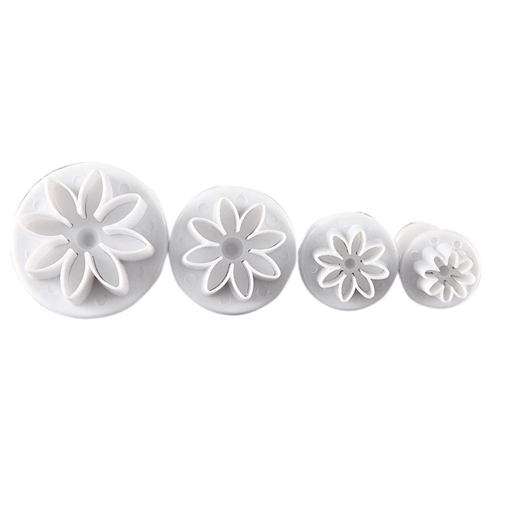 Kiloid Daisy Flower Fondant Sugarcraft Cookie Plunger Cutters Cake Mold Baking & Cookie Sheets
