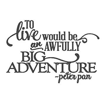 To Live Would Be An Awfully Big Adventure Vinyl Wall Decal 22x32